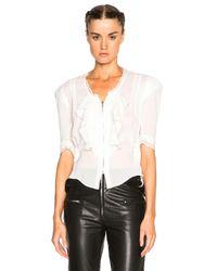Isabel Marant - Black Qing Silk & Lace Blouse - Lyst