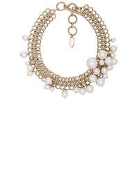 Lanvin | White Pearl Choker Necklace | Lyst
