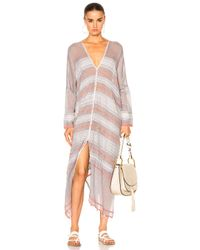 Lemlem - Multicolor Tabtab Open Back Caftan In Steel - Lyst