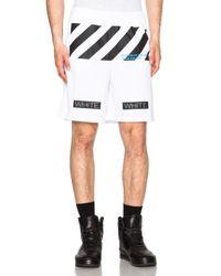 Off-White c/o Virgil Abloh - White Collar Mesh Shorts - Lyst
