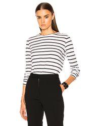 Proenza Schouler | Black Tissue Jersey Long Sleeve Tee | Lyst