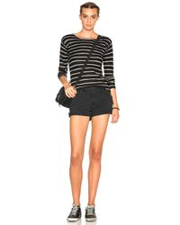 R13 Black Long Sleeve Knit Cashmere Tee
