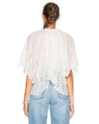 Sea - White Flutter Sleeve Peasant Top - Lyst
