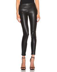 Saint Laurent Black Leather Leggings