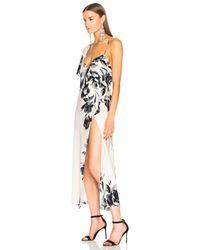 Michelle Mason - Multicolor Cape Sleeve Wrap Dress - Lyst