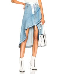 133109b791 Off-White c/o Virgil Abloh X Levi's Asymmetric Skirt in Blue - Lyst