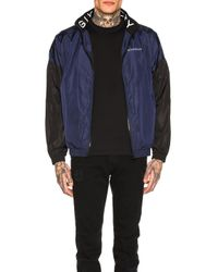 Givenchy Blue Windbreaker for men