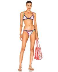 KIINI Multicolor Yaz Poly-blend Bikini Top