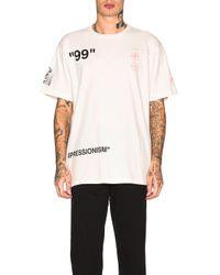 Off-White c/o Virgil Abloh Boat T-Shirt in White für Herren