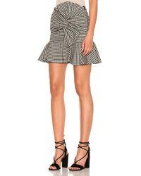 Veronica Beard - Black Picnic Bow Mini Skirt - Lyst