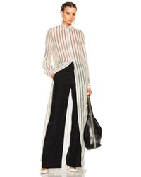 Lanvin | White Long Sleeve Maxi Dress | Lyst