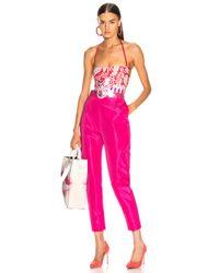 Cushnie Pink Back Strap Swimsuit