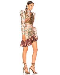 Zimmermann Multicolor Tempest Tucked Contour Mini Dress