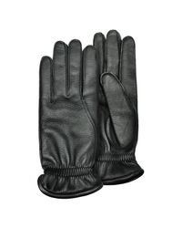 Pineider - Men's Black Deerskin Leather Gloves W/ Cashmere Lining for Men - Lyst