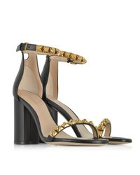 Stuart Weitzman - Black Leather The Rosemarie Sandals - Lyst