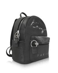KENZO | Black Perforated Neoprene And Canvas Backpack | Lyst