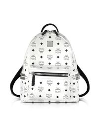 MCM - Stark White Small Backpack - Lyst
