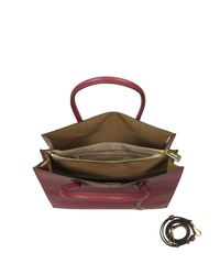 Michael Kors - Purple Mercer Large Mulberry Pebble Leather Convertible Tote Bag - Lyst