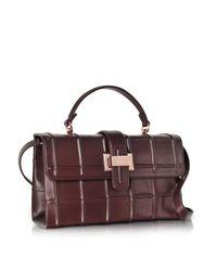 Rodo - Purple Burgundy Nappa Leather Lunch Bag - Lyst