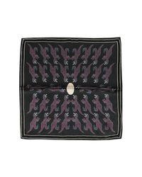 Paul Smith | Black Dino Petrol Woven Silk Men's Pocket Square for Men | Lyst