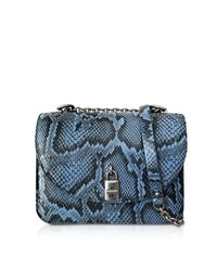 Rebecca Minkoff Love Too Cement Blue Leather Crossbody Bag