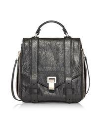 Proenza Schouler - Ps1+ Zip Black Leather Backpack - Lyst