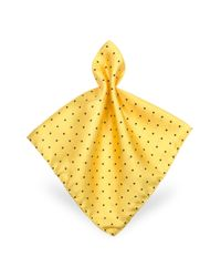 Pochette in Twill di Seta a Pois di Forzieri in Yellow da Uomo
