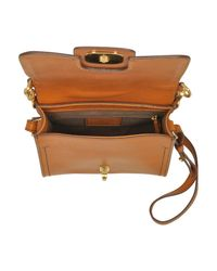 The Bridge Brown Genuine Leather Top Handle Crossbody Bag