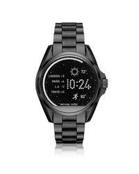 Michael Kors - Black Stainless Steel Bradshaw Women's Smartwatch - Lyst