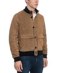 Forzieri - Brown Suede Men's Bomber Jacket for Men - Lyst
