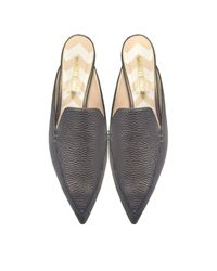 Nicholas Kirkwood | Beya Pewter Metallic Tumbled Leather Loafer | Lyst