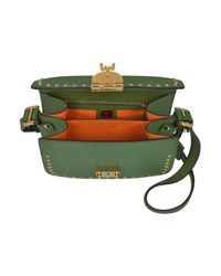 MCM - Loden Green Patricia Studded Outline Park Avenue Small Shoulder Bag - Lyst