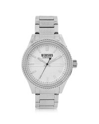 Versus  Metallic Bayside Silver Tone Stainless Steel Unisex Bracelet Watch for men