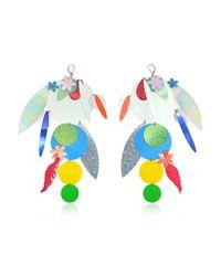 Christopher Kane - Oversize Disc Multicolor Earrings - Lyst