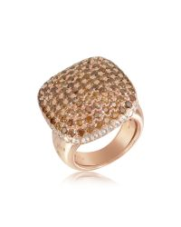 Azhar | Metallic Cubic Zirconia Sterling Silver Square Cocktail Ring | Lyst