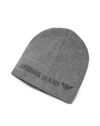 Armani Jeans | Gray Solid Wool Blend Men's Beanie Hat for Men | Lyst