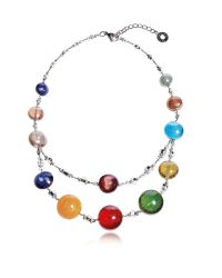 Antica Murrina | Redentore 3 - Multicolor Murano Glass And Silver Leaf Choker | Lyst