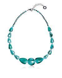 Antica Murrina | Marina 2 Basic - Turquoise Green Murano Glass And Silver Leaf Choker | Lyst