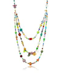 Antica Murrina | Brio - Triple-strand Multicolor Murano Glass Bead Necklace | Lyst