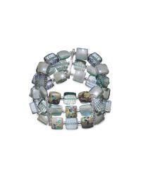 Antica Murrina | Multicolor Atelier Byzantium - Grey Murano Glass & Silver Leaf Stretch Bracelet | Lyst