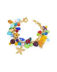 Antica Murrina | Multicolor Marilena - Murano Glass Marine Gold Plated Bracelet | Lyst
