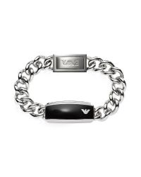 Emporio Armani | Metallic Silver Tone Stainless Steel Men's Bracelet for Men | Lyst