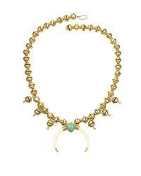 Aurelie Bidermann - Metallic Navaho Gold Plated, Horn And Turquoise Pendant Necklace - Lyst