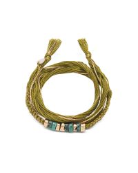Aurelie Bidermann | Green Takayama Turquoise Stones And Olivine Thread Bracelet | Lyst