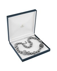 AZ Collection Metallic Mirror Polished Ball Necklace