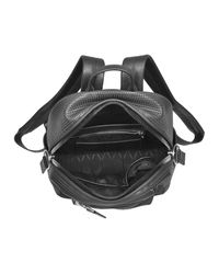 KENZO - Black Perforated Neoprene And Canvas Backpack - Lyst