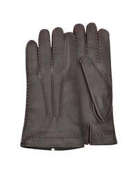 Forzieri - Gray Herren-Handschuhe aus Hirschleder mit Kaschmirfutter for Men - Lyst