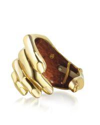 Bernard Delettrez | Metallic Hand Bronze Cuff Bracelet | Lyst