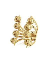 Bernard Delettrez | Metallic Gold And Cognac Diamonds Fox Ring | Lyst