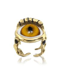 Bernard Delettrez | Metallic Bronze Eye Ring | Lyst